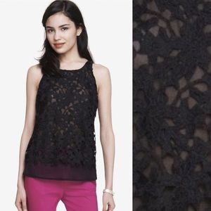 EXPRESS sheer/lace top